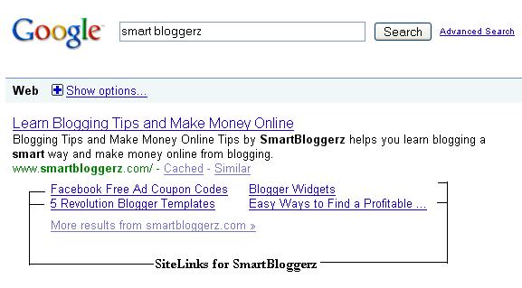 smartbloggerz-sitelinks1